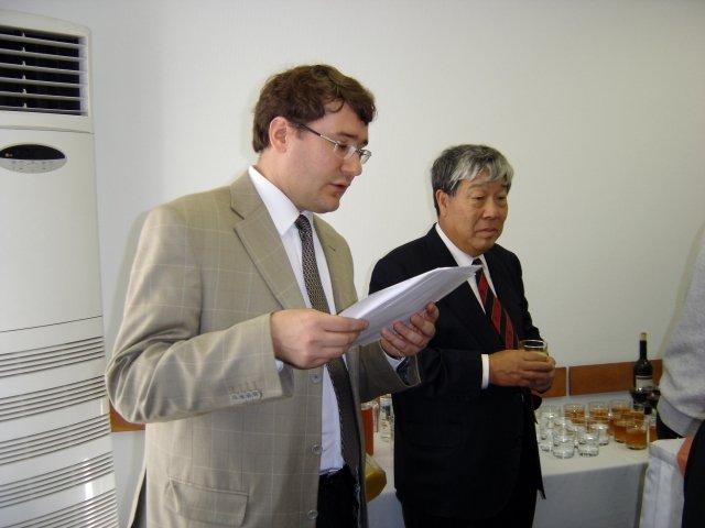 Председатель оргкомитета К.А. Лутаенко и профессор Бьн Ле Че (Южная Корея).